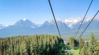 Lake Louise Gondola ride in Banff National Park