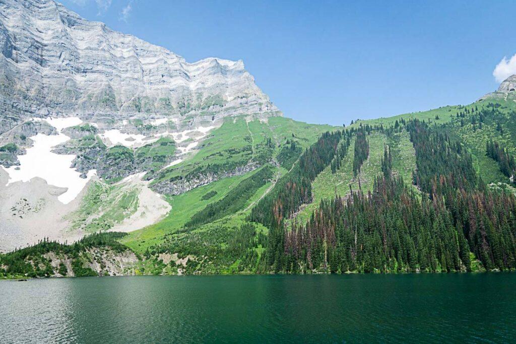 View of Rawson Lake and Sarrail Ridge