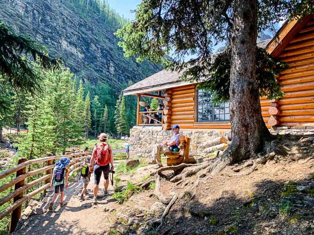 Reaching Lake Agnes Tea house - Lake Louise Hikes