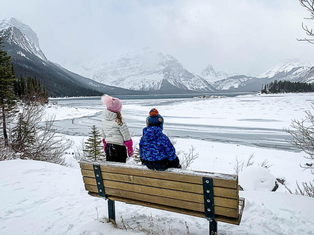 Upper Kananaskis Lake in Winter