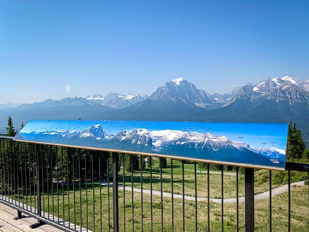 viewing platform - Lake Louise gondola summer