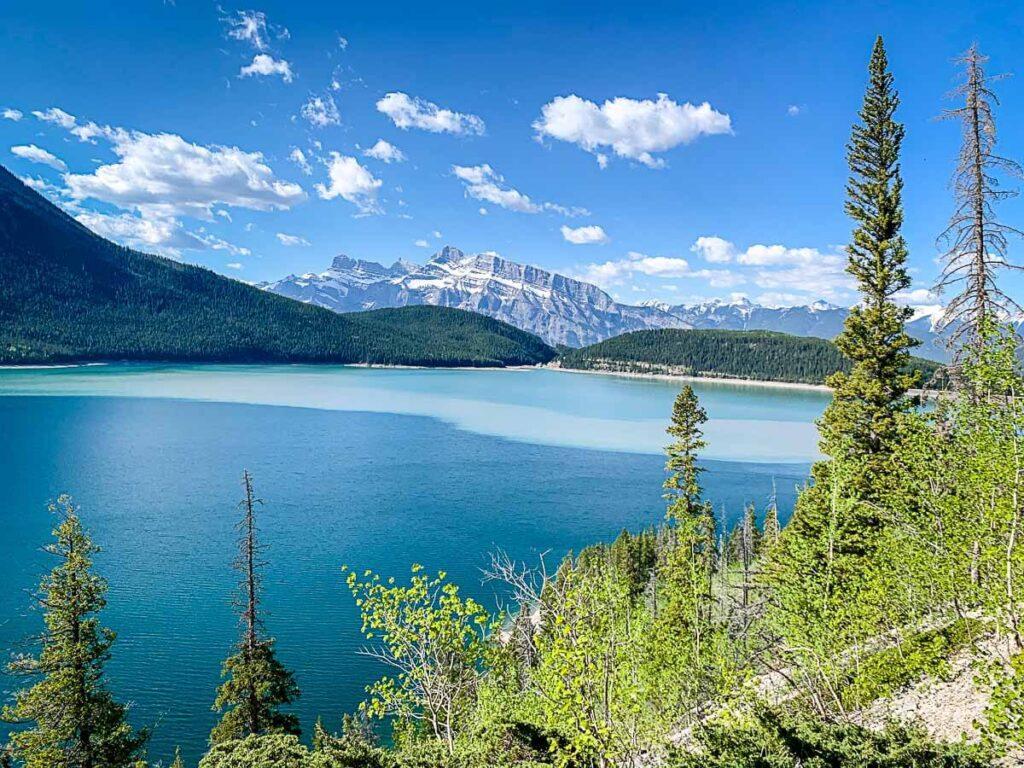 Mountain views from Lake Minnewanka Hike