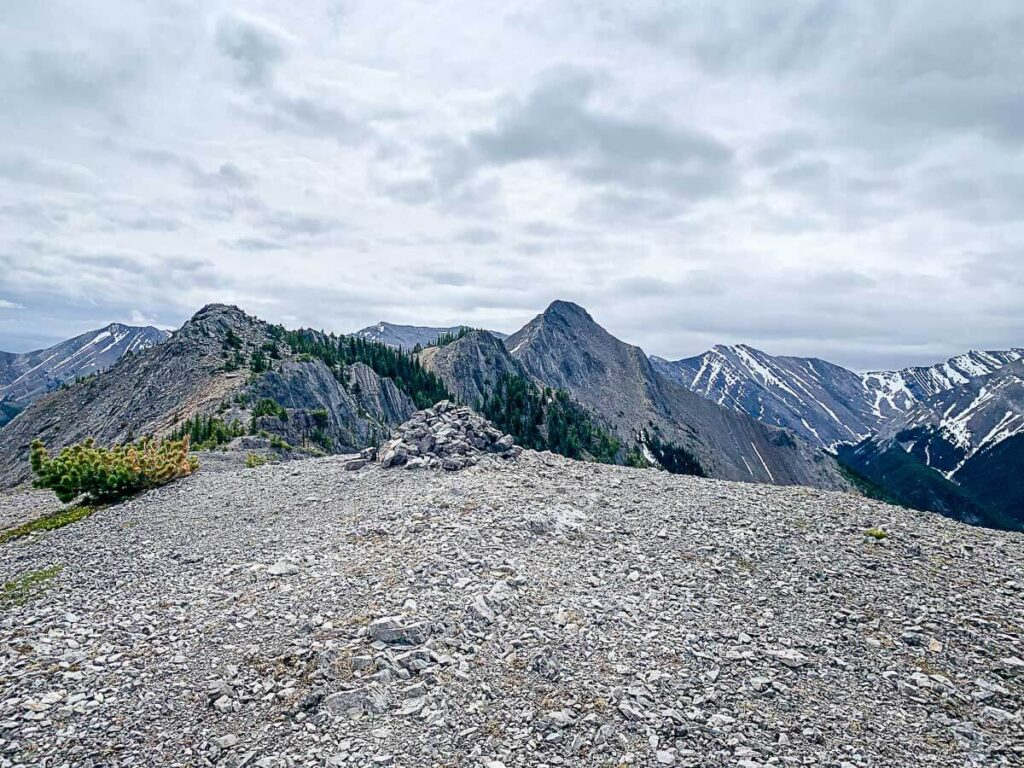 Wasootch Ridge peaks and summit in view