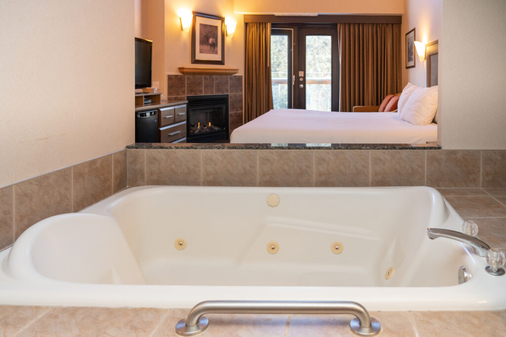The Rundlestone Lodge is one of the best hotels in banff with private hot tubs