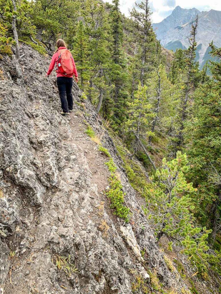 steep drop offs on Wasootch Ridge Alberta