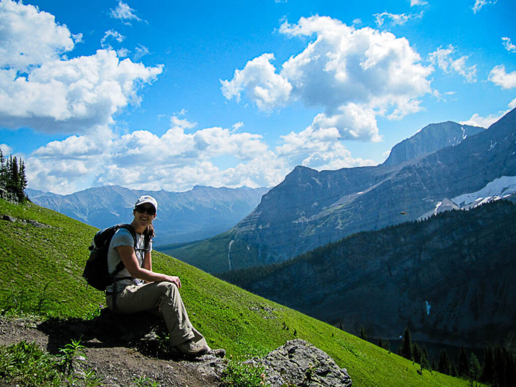 taking a break on Sarrail hike