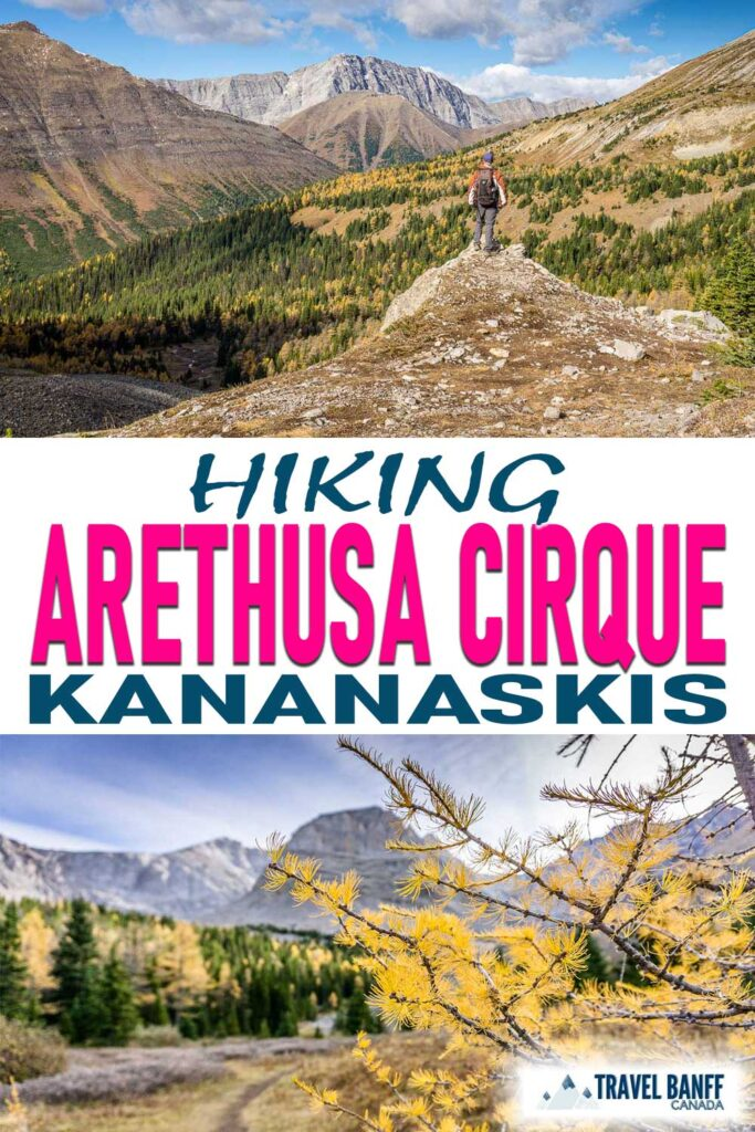 Arethusa Cirque is a stunning hike in Kananaskis. Not far from Highwood Pass, it's one of the best Kananaskis larch hikes.