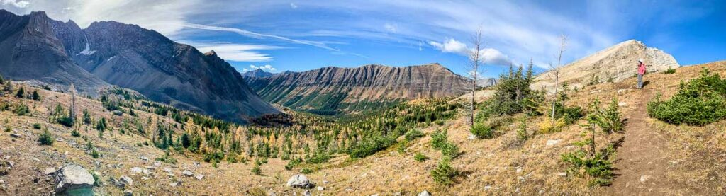 enjoy incredible views of the Arethusa Cirque larch trees in September