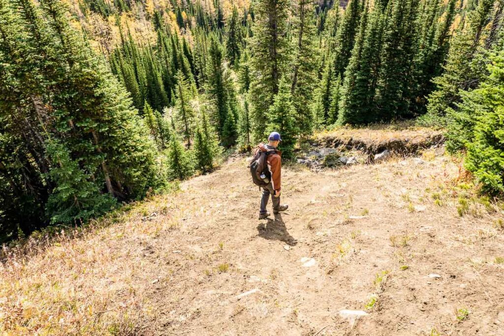 The Arethusa Cirque hike can get steep for short sections