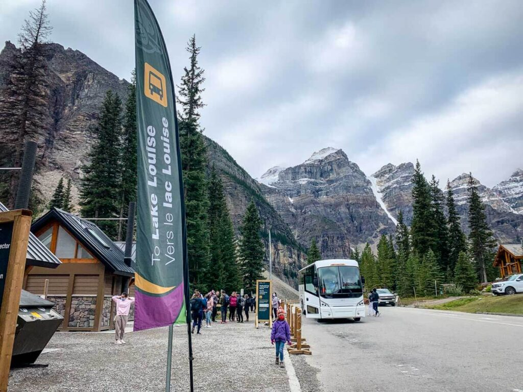 how to get from Banff to Moraine Lake - Shuttle