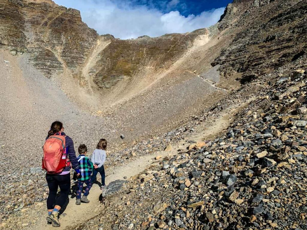 Hiking Sentinel Pass trail with kids
