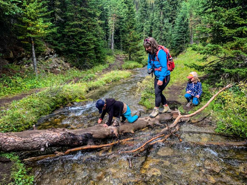 The Arethusa Cirque hike is a popular kid-friendly hike in Kananaskis Country