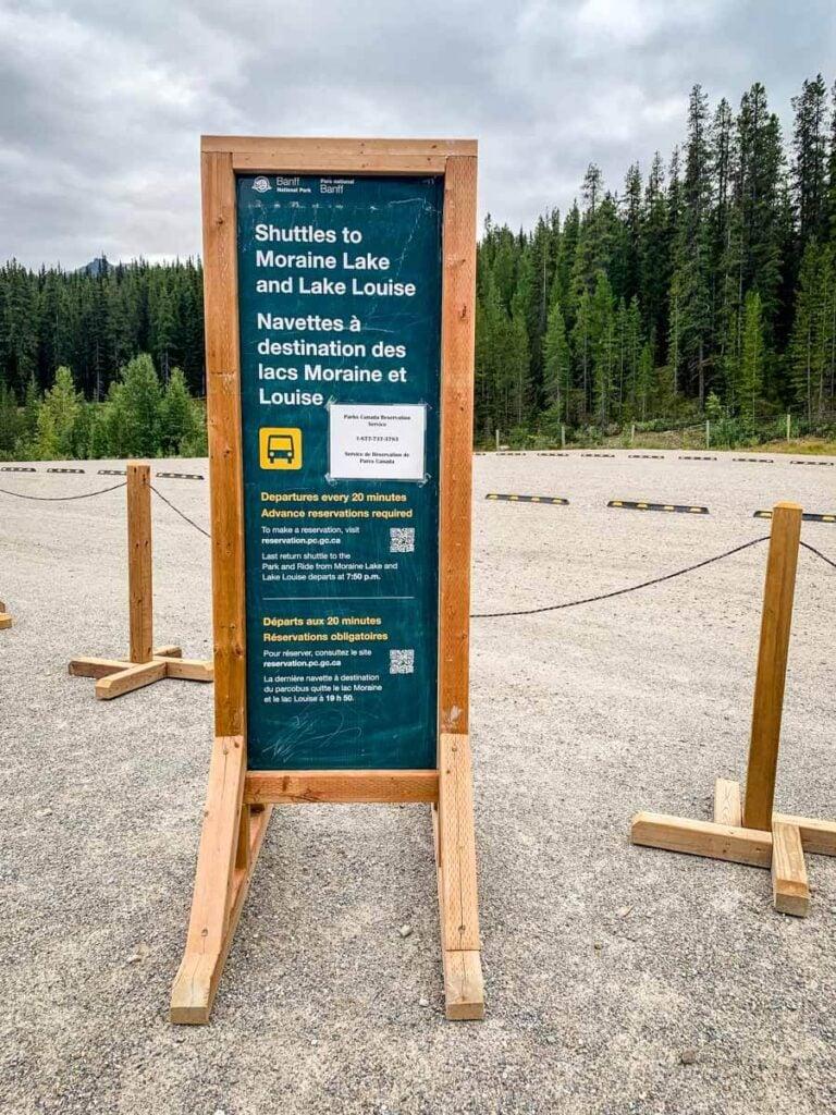 Details for Parks Canada Moraine Lake Shuttle