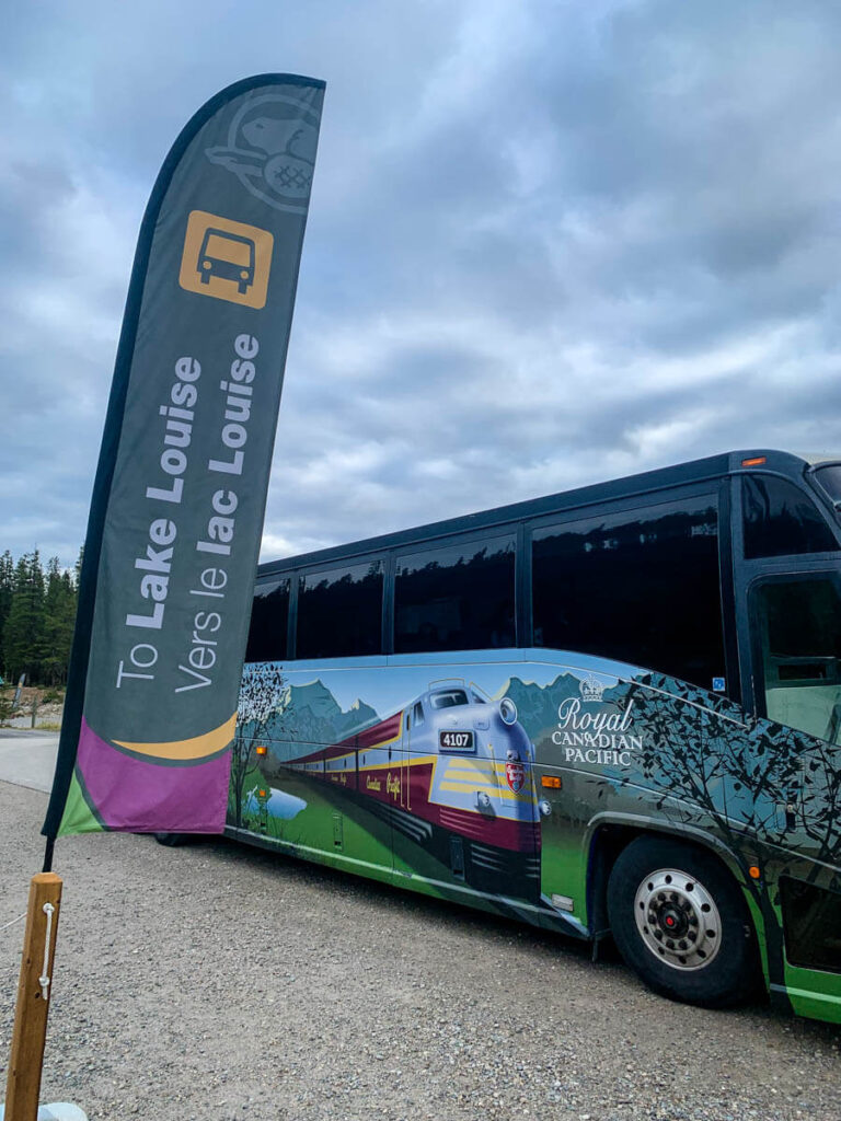 Parks Canada shuttle to Moraine Lake or Lake Louise