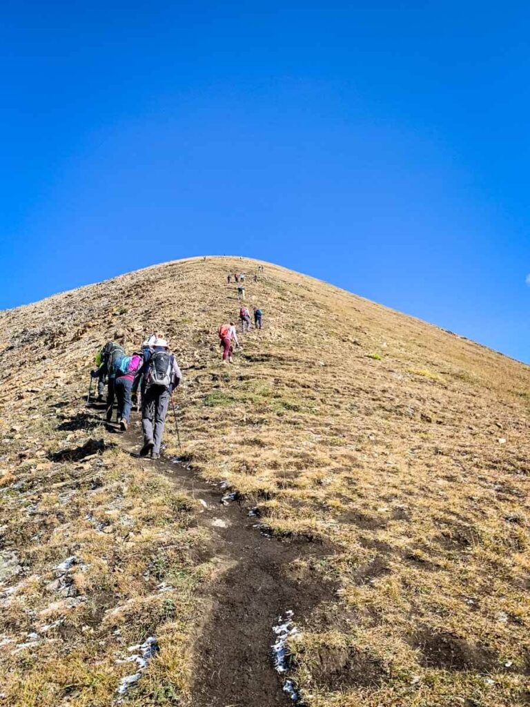 the final approach to the Pocaterra Ridge summit