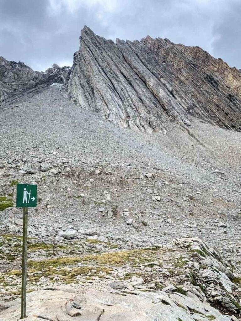 trail marker on Ptarmigan trail