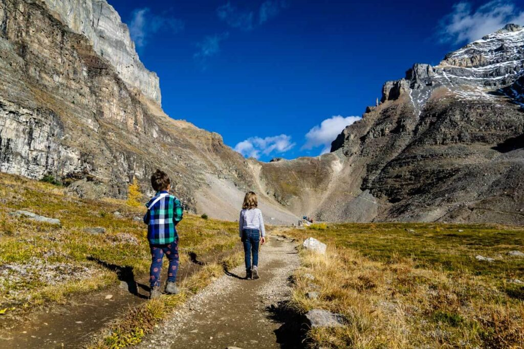 Larch Valley Sentinel Pass Hike with Kids in Banff
