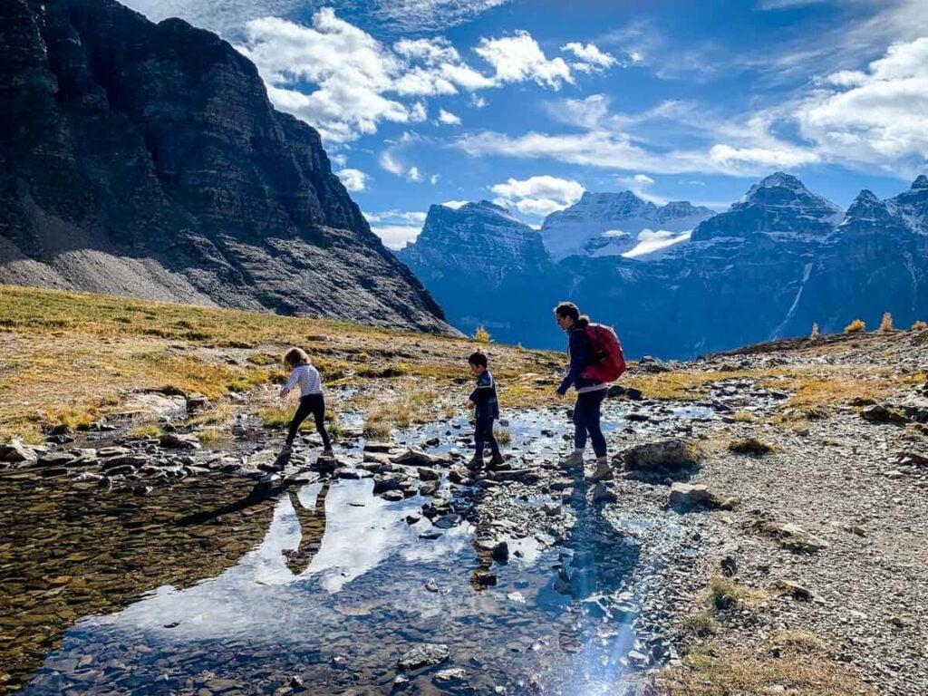 Sentinel Pass trail in Banff