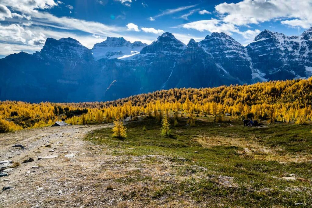 Sentinel Pass via Larch Valley Trail in Banff