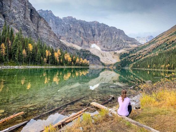 Hiking to Taylor Lake in Banff National Park