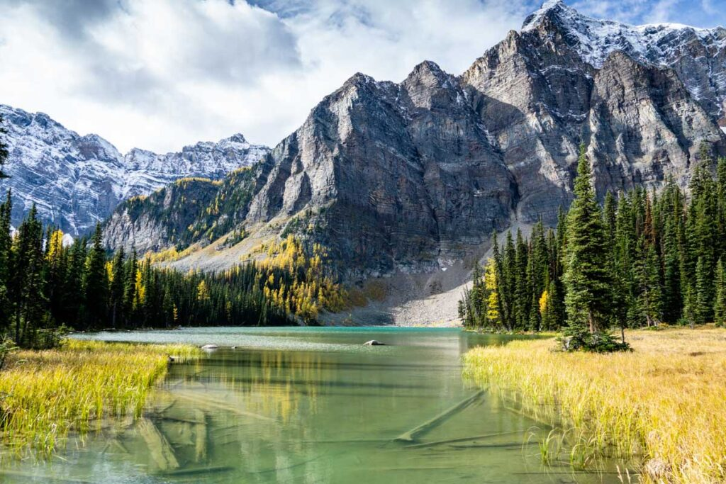 The Twin Lakes trail is a challenging day hike which visits four lakes in Banff National Park