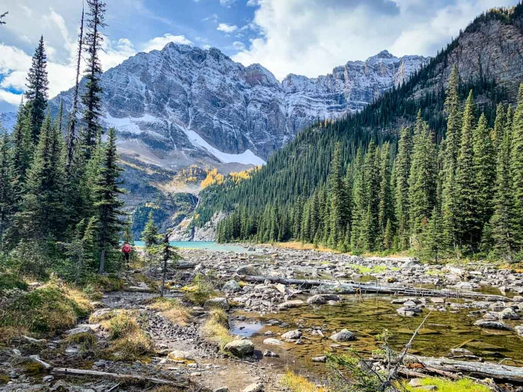 You'll be glad to have hiking boots on with the muddy trail conditions to Lower Twin Lake