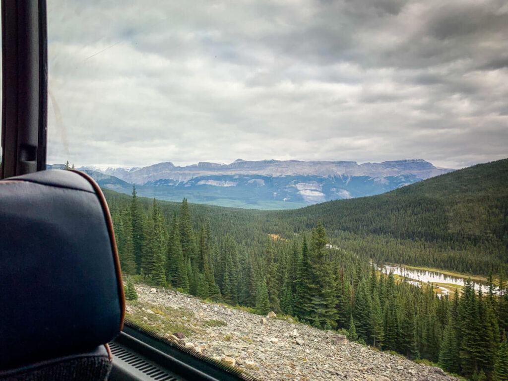 Mountain Views from Shuttle to Moraine Lake