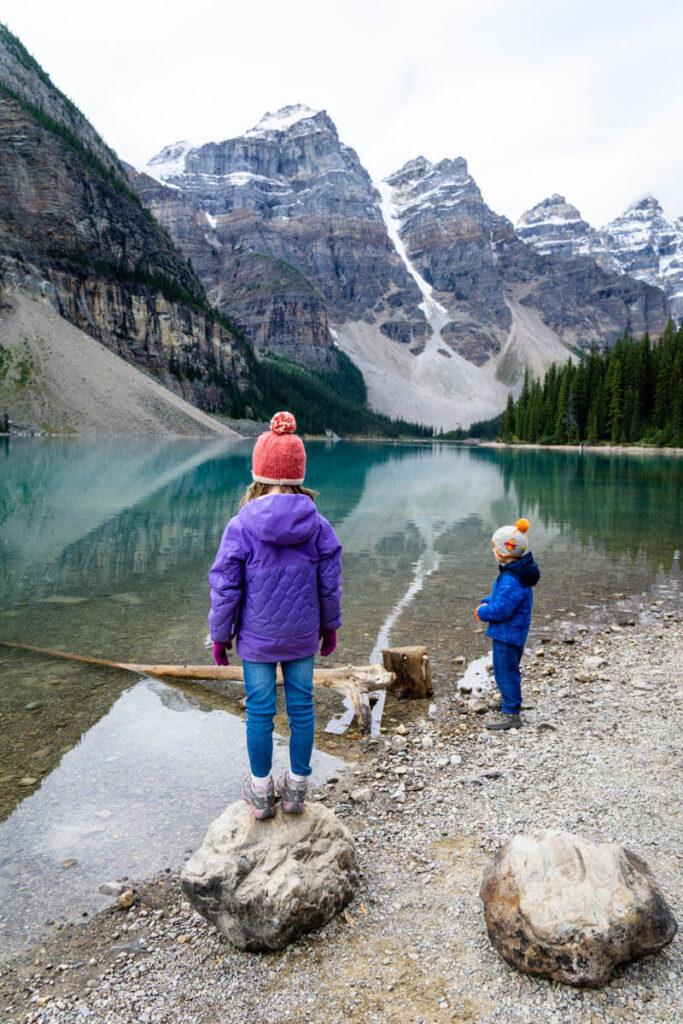 Visiting Moraine Lake Alberta with Kids