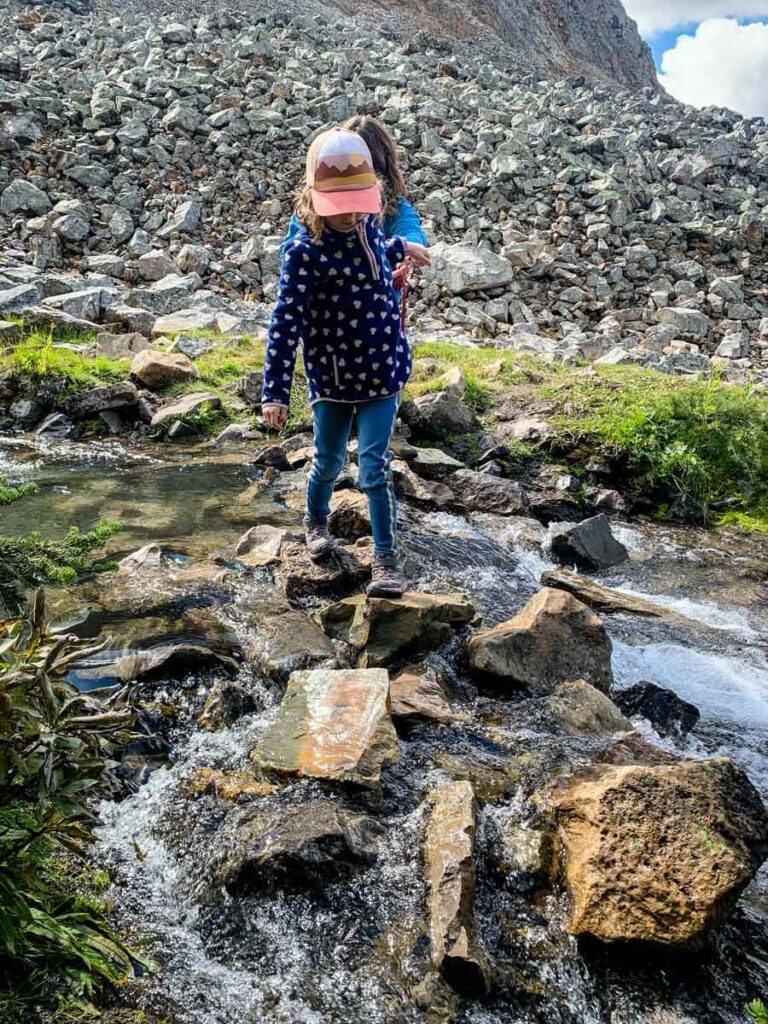the many easy challenges make Arethusa Cirque a fun hiking trail for kids in Kananaskis