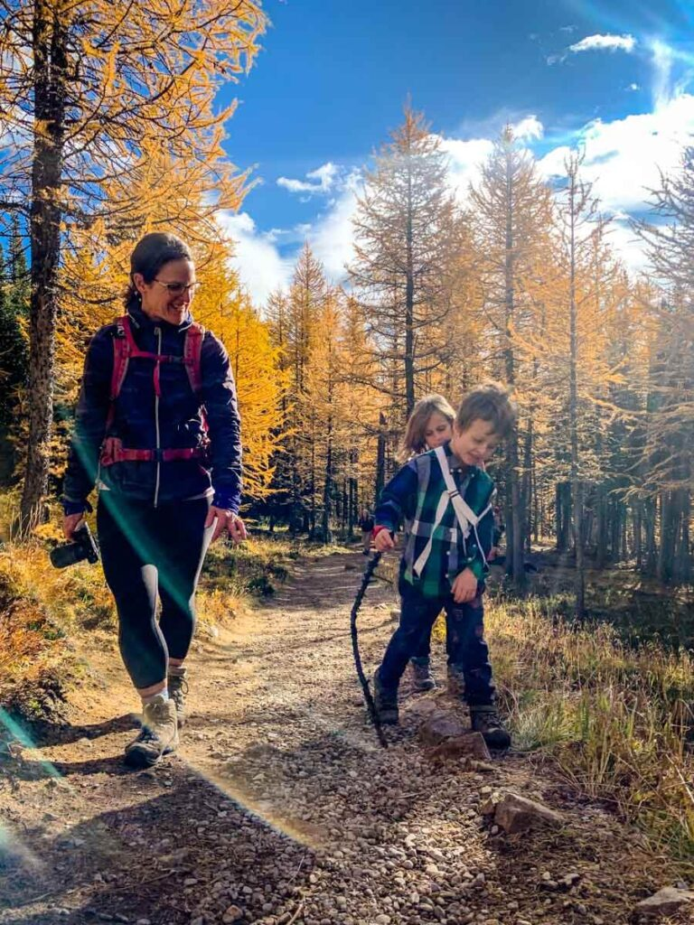 Hiking Larch Valley/Sentinel Pass with Kids