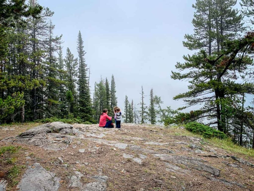 clearing at the summit of Stoney Lookout in Banff National Park