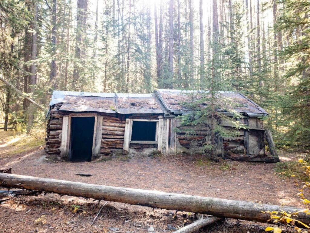 The Johnson Lake hermit cabin was built in 1910 by Billy Carver