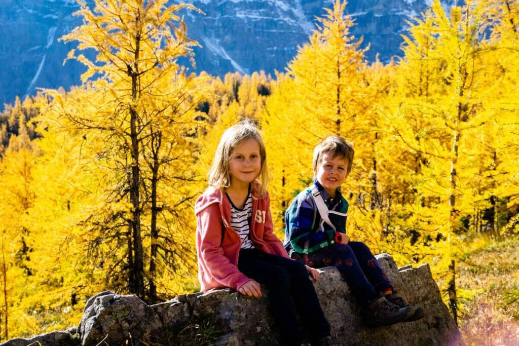 Larch Valley Sentinel Pass with Kids