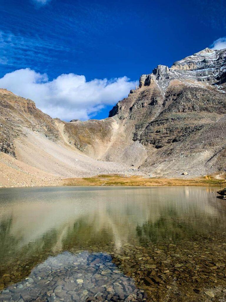 Minnestimma lake with view of Sentinel Pass Banff