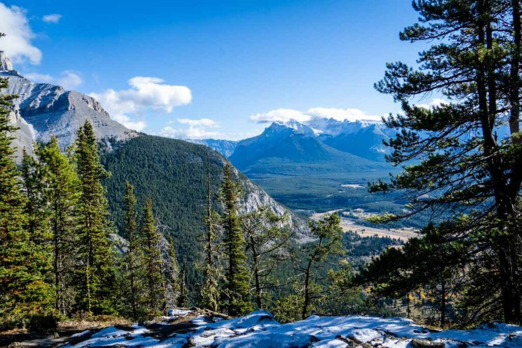 Stoney Lookout view over Bow Valley