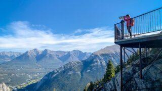 Looking at Sulphur Mountain Summit Banff