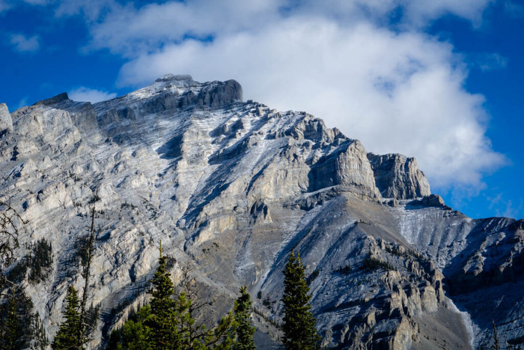 Cascade Mountain in Banff National Park from Upper Stoney trail