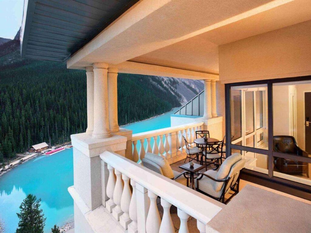 The Chateau Lake Louise accommodations are among the best
